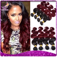 two tone hair extensions - Irina a Ombre Peruvian Body Wave Hair Extension Colored Two Tone Hair Weave b Burgundy Peruvian Ombre Hair weft inch Bundle Deals