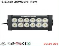 Wholesale 36W Inch Dural Row Cree LED Light Bar Spot Beam Flood Beam Combo Beam Off Road Car LED Work Lights
