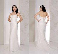 best pastel - The Best Selling Simple Sheath Wedding Dresses Strapless Covered Button Court Train Tulle Bridal Gowns