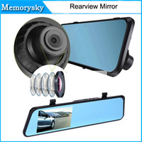 av out card - 4 quot LCD Bule Screen HD1080P V180 AV OUT one Camera Rearview Mirror Viedo Recorder Car DVR Blackbox G Senser v180