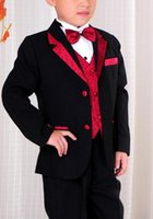boys brown suit - 2015 Custom Made Handsome Fashion Kids tuxedo attire boys suits for wedding shirt and tie sets