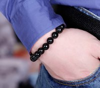 Wholesale New Hot Fashion Men Women Infinity mm Black Beaded Charm Bracelet fei