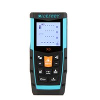 Wholesale MiLESEEY X6 M Portable Laser Distance Meter Range finder With Double Measuring Button and Multi purpose End piece order lt no track