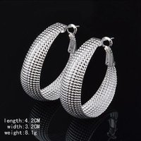 Wholesale Lady s Best Jewelry Silver Hoop Mesh Dangle Earring Jewelry For Women
