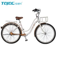 Wholesale Chainless Bike TDJDC Flower Whisper Hi ten Fork Aluminium Alloy Thicken And Seamless Frame With SHIMANO Shaft Drive Bicycle