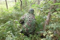airsoft ghillie suits - Camo D Single Hunting Camping Camouflage Ghillie suit Bionic training suit Paintball Airsoft Outdoor Photographing Military