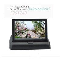 auto vcr - Unique quot Foldable Dashboard Backup TFT Color LCD Car Auto Reverse black Rearview Monitor for Camera DVD VCR