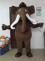 Mascot Costumes adult elephant costumes - Hot Sale New Mammoth Mascot Costume Adult Size Mammoth Elephant Cartoon Character Costume Fancy Dress For Easter Party
