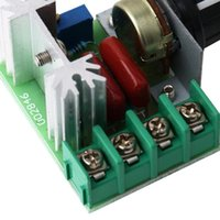 Wholesale 220V W Speed Controller SCR Voltage Regulator Dimming Dimmers ThermostatHot New Arrival
