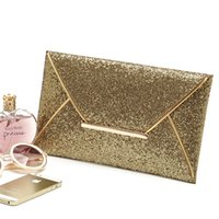 ladies fashion evening bags - Bling Bling Envelope Evening Bags Black Gold Ladies Fashion Prom Cocktail Wedding Party Gift Dinner Clutch Handbag Hot