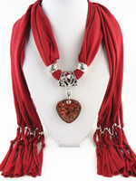beautiful love knitting - Hot New design beautiful Heart pendant scarf for USA Jewelry Necklace Scarves DIY scarf Glass Jewelry Pendant Scarf Hot