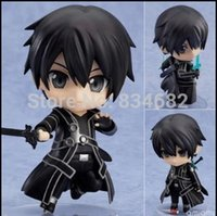 Wholesale J G Chen Cute Nendoroid quot Sword Art Online Kirito PVC Action Figure Collection Model Toy with Box