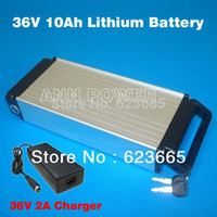 Wholesale E bike V Ah lithium battery With free V A charger V10Ah Electric bicycle li ion battery New v a battery