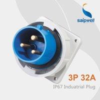 venda por atacado cee plug-Saipwell Padrão ficha CEE plug 32a impermeável Industrial Plug SP-831 de alta qualidade