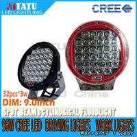 off road led - 96W INCH Red Cree led work light LED Driving Worklight Jeep Bright Round LED Work Light Off Road SUV ATV WD x4 v V