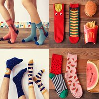 al por mayor calcetín jirafa-2015 calcetines de los pares de los calcetines de las mujeres de la NUEVA LLEGADA calcetines de los calcetines del algodón 100% del león de la jirafa de la sandía de Hamburgo Calcetines ocasionales de la marca de fábrica de la alta calidad