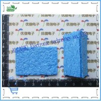 addition dvd - 1 Thick high temperature soldering iron sponge clean blue blue green in addition to tin sponge CM Orig
