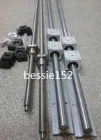 Wholesale 6 SBR16 mm linear rail guide sets ballscrew RM1204 mm sets BK BF10 bearing couplers mm CNC set
