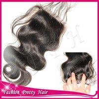 Cheap Best and Cheap Virgin Hair Silk Base Closure Brazilian Body Wave Silk Top Closure Swiss Lace Closures Human Hair Bleached Knots