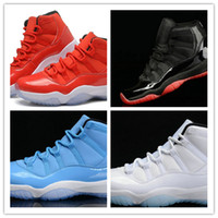 Wholesale Cheap Silver Shoes Rhinestones - new Legend Blue Retro 11 XI Bred Basketball Shoes Cheap Good Quality Men Sports Shoes Discount Sports Shoes Leather Men s Basketball Shoes