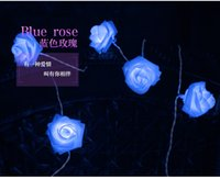 Wholesale Hot sell LED Indoor flower lamp Rose Fairy String Lights Wedding Garden Party Christmas Decoration strip lamp AAA battery M led