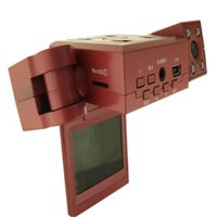 bear definition - 25 cm Rotating camera lens car DVR new sale high definition double lens driving recorder