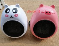 Wholesale 300 BBA5056 Cat bear shape Fan heaters Mini cartoon Mini Heater Valentine Gift With Holder desktop Cartoon heater Creative miniature heaters