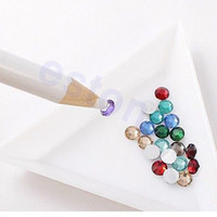 Wholesale 5pcs Nail Art Rhinestones Gems Picking Crystal Tool Wax Pencil Pen Picker