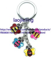 bee keyring - New arrival Fashion Jewelry The Bee shaped keyrings lovely alloy key chain mixed send