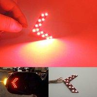 arrow headlights - 1Pair SMD LED Arrow Panels Light Car Side Mirror Turn Signal Indicator Light Red Color