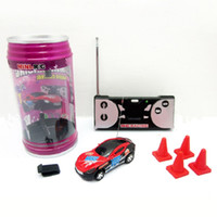 Wholesale Multicolor Coke Can Mini Speed RC Remote Control Racing Car Vehicle Gift Good Quality