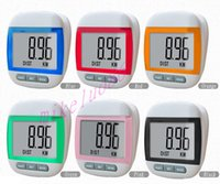 Wholesale New Multi function Pedometer Large LCD Display Step Pedometer Walking Calorie Distance Counter DHL