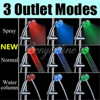 Wholesale Fashion New Outlet Modes Magic Colors Automatic LED Shower Hand Head Sprinkler Lights Water Home Washing Bath Room Bathroom