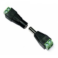 Wholesale 5 x mm dc connector female male dc power jack adapter for cctv camera or led strip pairs