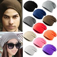 Beanie/Skull Cap Others Others Wholesale-Winter Warm Unisex Knitted Ski Crochet Slouchy Hat Cap for Women Men Beanies Hip Hop Hats Hot Freeshipping