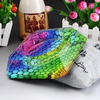 Wholesale Sell like hot cakes Bevel color colorful crystal ashtray crystal craft home furnishings wedding gifts
