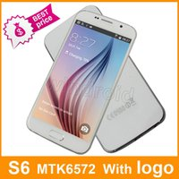 Wholesale Cheap S6 G9200 MTK6572 Dual core Android Smart Cell Phone inch Show GB G LTE Fingerprint GSM Quadband Unlocked Mobile Free DHL
