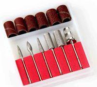 professional electric nail drill - 6Pcs Set Professional Electric Drills Filling System Nail Drill Bits File Kit