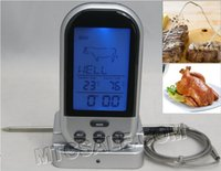 Food Cooking/BBQ/OVEN bbq grills - Wireless Remote Digital Food Meat Oven Thermometer With Probe Temperature Gauge Alert for BBQ Grilling Roasting Kitchen Cooking