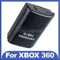 Precio de Controladores de xbox para la venta-2015 Venta Caliente Nuevo Negro 4800mAh Ni-MH Batería Recargable USB Para Xbox 360 Controlador Inalámbrico de la Consola de Precios al por mayor pedido de$18no pista