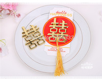 asian wedding favors - 50pcs Hot Chinese Theme Double Happiness Bottle Opener Asian Themed Wedding Favors