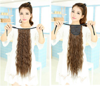 Medium Brown human hair ponytail - Top Grade Virgin Remy Human Hair Extentions Long Yaki Straight Fluffy Drawstring Ponytail Fixed by Ribbon Band Lace Tie Feature