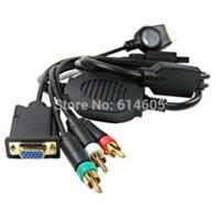 av component splitter - AV HDTV TV PC Monitor VGA Component Cable for Nintendo Wii Sony PS3 Console monitor cable splitter cable tacker