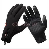 Wholesale 80pair CCA3124 Windstopper Outdoor Sports Snowboard Skiing Riding Bike Cycling Gloves Windproof Winter Gloves Thermal Touch Screen Gloves