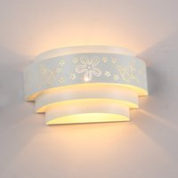Wholesale New Fashion Modern Brief Butterfly Flower Wall Lights White Mirror Front Llight Iron Wall Lamp High Quality fast shipping