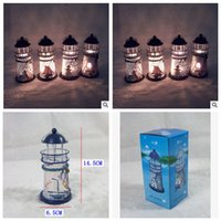 Wholesale 2014 lighthouse wrought iron candlestick romantic Mediterranean style decoration lantern groceries home furnishing articles topB943