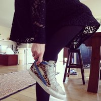 Wholesale 2015 new style golden goose women s fashion sneakers lover s ggdb high upper leisure shoes