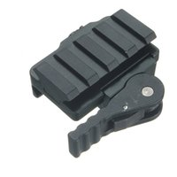 Wholesale Aluminum Compact Tactical QD Quick Release Mount Adapter Slots Fit mm Picatinny Weaver Rail Base Hunting Accessories