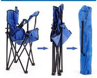 Wholesale New Outdoor Folding Available Fishing Chair Seat w Carry Bag Cupholder