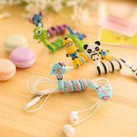 Wholesale Kawaii Cartoon Animal Long Cable Winder Headphone Earphone Organizer Wire Holder